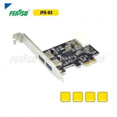 PLACA PCI-E JPU-03 USB 3.0 EXPRESS 2PORTAS