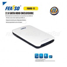 Case Gaveta Externa Feasso FAHD-11 Para HD Sata 2.5 USB 3.0 HD De Notebook